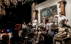 Chimney Choir performing at their album release party June 23.